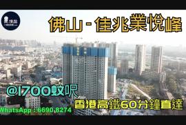佳兆業悅峰_佛山|首期5萬(減)|@1700蚊呎|香港高鐵60分鐘直達|香港銀行按揭 (實景航拍)