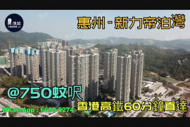 新力帝泊灣_惠州 首期3萬(減) 香港高鐵60分鐘直達 香港銀行按揭(實景航拍)